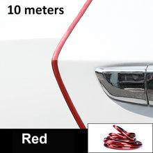 5/10 metr ochronna krawędź do drzwi samochodu Protector przeciwkolizyjne taśmy węgla Anti-Scratch naklejka Chrome bezpieczne uszczelnienie ochrony akcesoria samochodowe