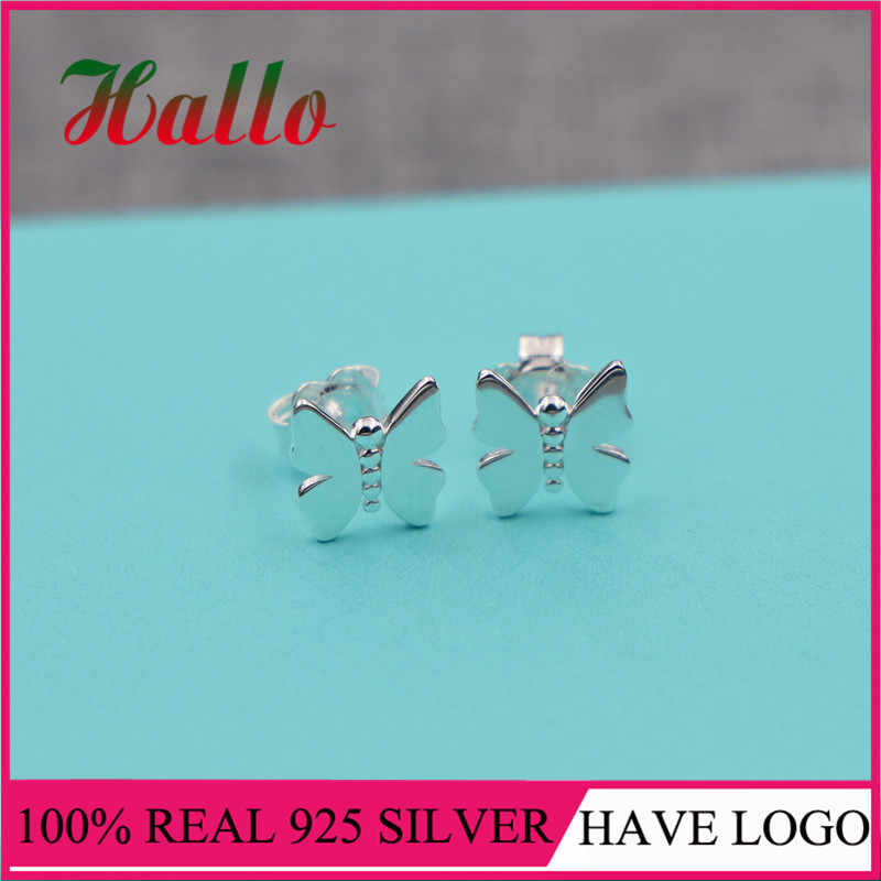 Pendientes de marca de alta calidad, pendientes de plata de ley 925, joyería fina para mujer