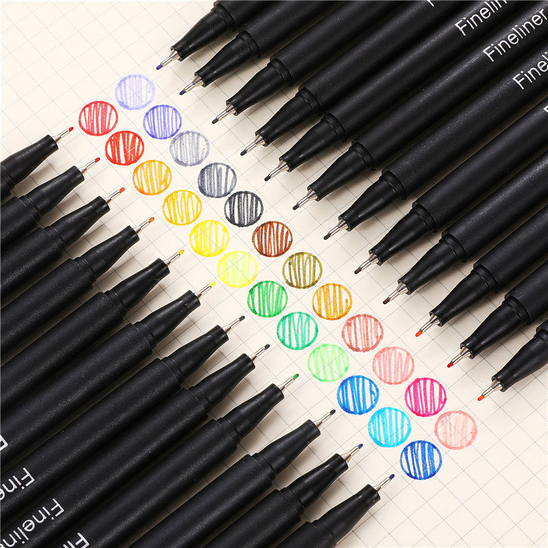 24 Colors 0.38mm Neutral Gel Pen Markers Fineliner Pen For School Office Pen Set Kawaii Art Ink Pen Supplies Cute 04031