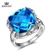 Slfd Natuurlijke Topaas 18K Puur Goud 2019 Nieuwe Hot Selling Top Ring Vrouwen Hart Vorm Ring Voor Dames Vrouw echte Sieraden