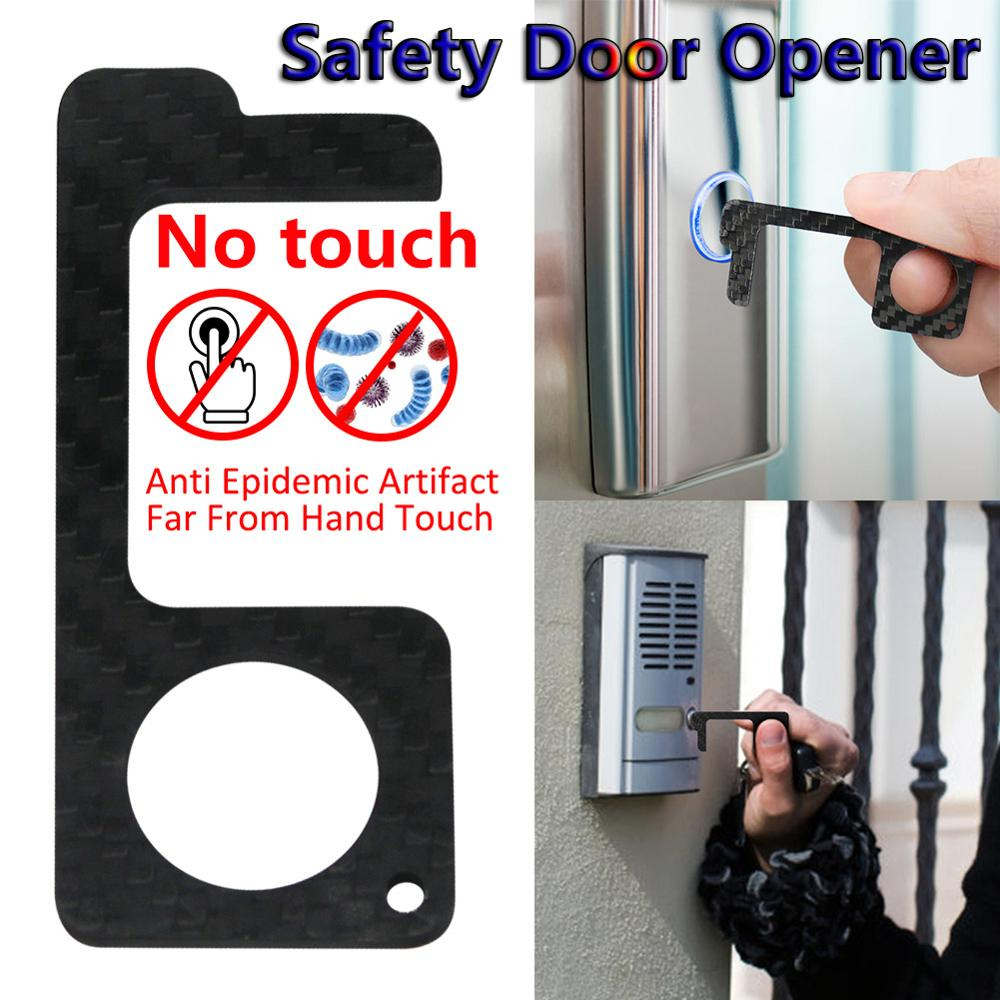 1/2PCS Non-contact Safety Door Opener Hygienic Door Handle EDC Door Opener Key Door Handles Clean-Key Protection Tool  No Touch