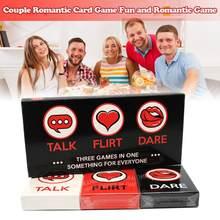3 In 1 Paar Karte Spiel Sprechen Oder Abenteuer Bord Karten Spaß Und Romantische Deck Spiel Schöne Geschenk Für Party unterhaltung