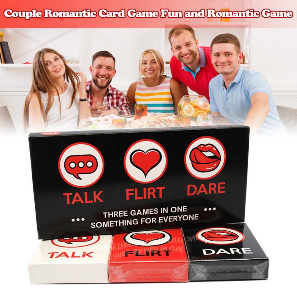 Juego de cartas 3 en 1 para parejas, juego de mesa divertido y romántico, regalo para entretenimiento de fiesta