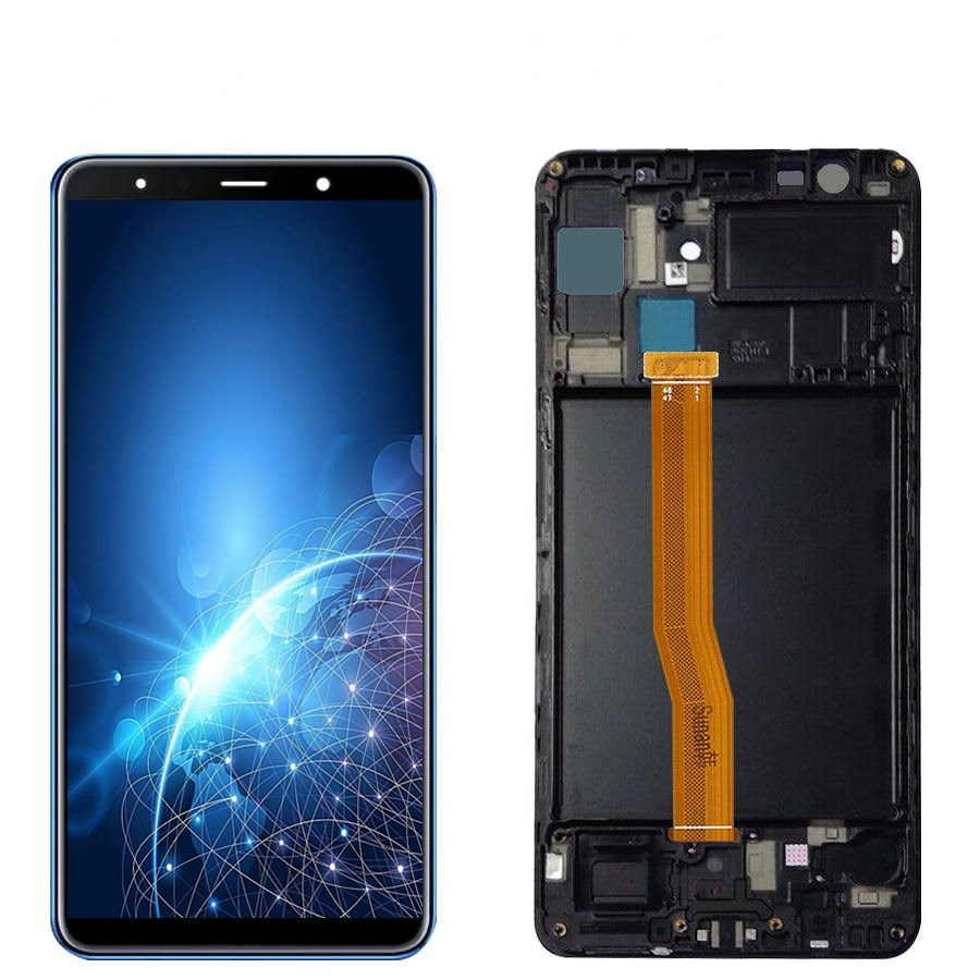 6.0 inches Super AMOLED LCD For <font><b>Samsung</b></font> <font><b>Galaxy</b></font> <font><b>A7</b></font> <font><b>2018</b></font> A750 SM-A750F A750F LCD <font><b>Display</b></font> With Touch Screen Assembly With Frame LCD image