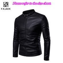 F.N.JACK мужские кожаные куртки, зимние пальто, Мужская мотоциклетная куртка, Chamarras Para Hombre Chaqueta