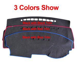 Image 4 - 포드 머스탱 6 세대 2015 2016 2017 2018 2019  On LHD RHD 2 레이어 자동차 대시 보드 커버 카펫 케이프 러그 패드 Sun Shade Protect