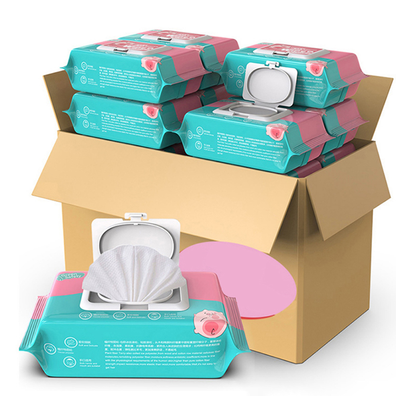 Baby Wipes 80 Pumped With Lid Baby Hand Mouth Newborn Infant Adult Wet Wipes