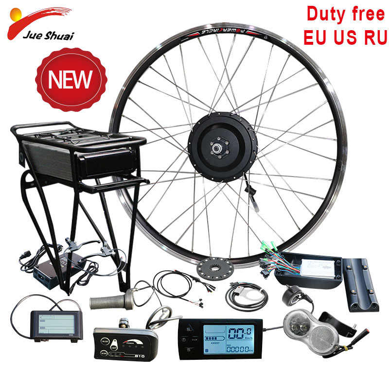 "No Tax 36V 48V 250W 350W 500W Rear Carrier Battery Electric Bicycle Kits Electric Bicycle Conversion Kit 20"" 26"" 700C MTB E Bike"