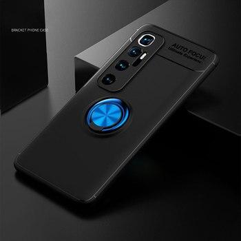 Cassa del telefono per Xiaomi Mi 10 Ultra Copertura Della Cassa Magnetica del Anello di Metallo Holder Molle di TPU Cassa Del Respingente Del Silicone per Xiaomi mi 10 Ultra 5G