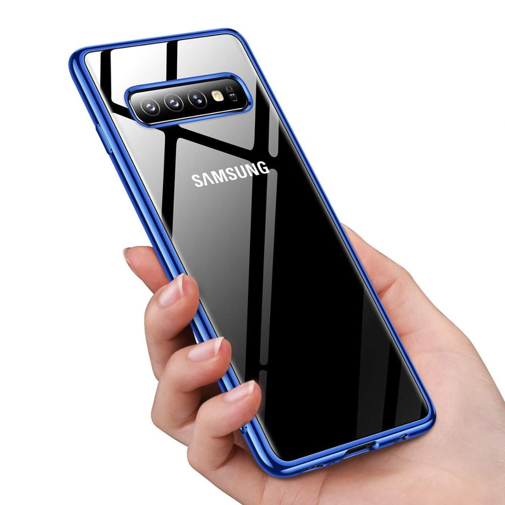 Crystal Clear For Samsung Galaxy Note 10 S10e S9 S8 S10 Plus Case,Anti-Yellow Ultra Thin Slim Fit Soft Silicone TPU Phone Cover