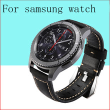 Leather band for Samsung Galaxy watch 46mm strap Gear s3 Frontier band bracelet 22mm Huawei watch GT strap Gear S 3 Classic 46(China)