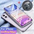 2 In 1 Gehärtetem Glas für Apple iPhone 11 Pro Max Kamera Objektiv ich Telefon Aphone iPhone11 11Pro Schutz Glas screen Protector-in Handybildschirm-Schutz aus Handys & Telekommunikation bei