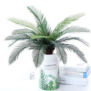 48cm9 вилка искусственные зеленые растения пластик железное дерево связка тропическая Пальма Monstera лист дома свадебное украшение для гостини...