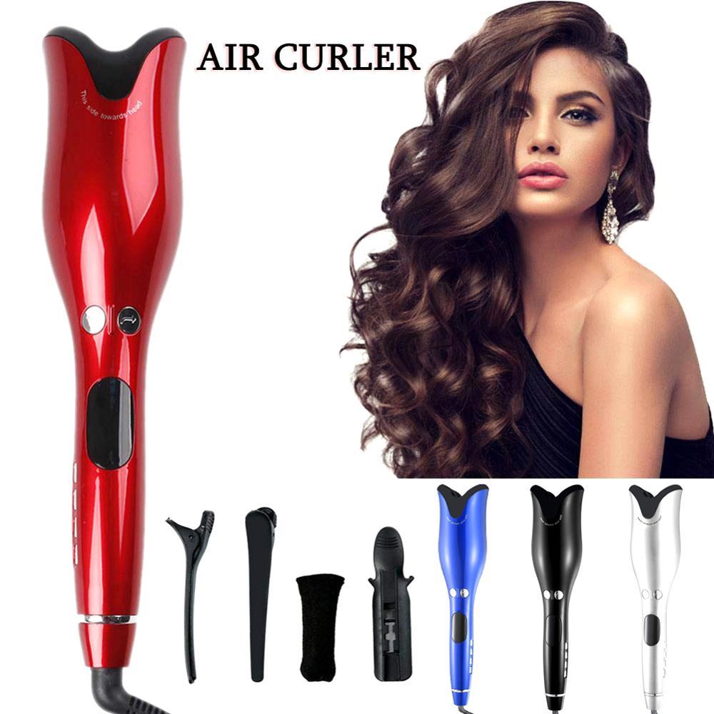 Щипцы для завивки волос, автоматическая плойка с турмалиновым керамическим нагревателем и светодиодной подсветкой, цифровой портативный мини-утюжок для завивки волос 1