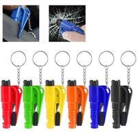 Mini Sicherheit Hammer Auto Fenster Glas Breaker Hammer Schlüsselring Sitz Gürtel Cutter 3 In 1 Funktion Auto Lebensrettende flucht Werkzeuge