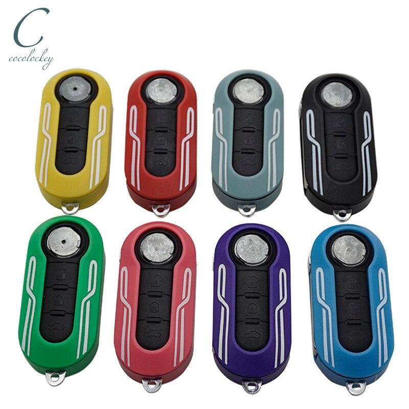 Xinyuexin 3 кнопки дистанционного ключа автомобиля оболочки чехол для Fiat 500 панда пунто Браво Авто Uncut лезвие дистанционного ключа Pad чехол Fob SIP22