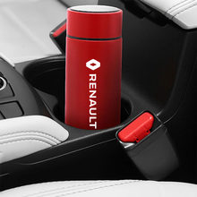 500ML car insulation cup For Renault Megane 3 Duster Logan Clio Laguna 2 Car logo smart display thermos car travel thermos cup