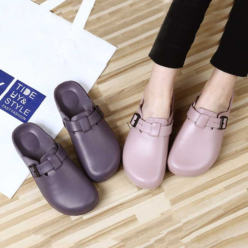 Medical Pure Color Slipper Antiskid Adjustable Lightweight Soft Sole Shoes Hospital Nurse Doctor Clean Wear-resistant Work Shoes
