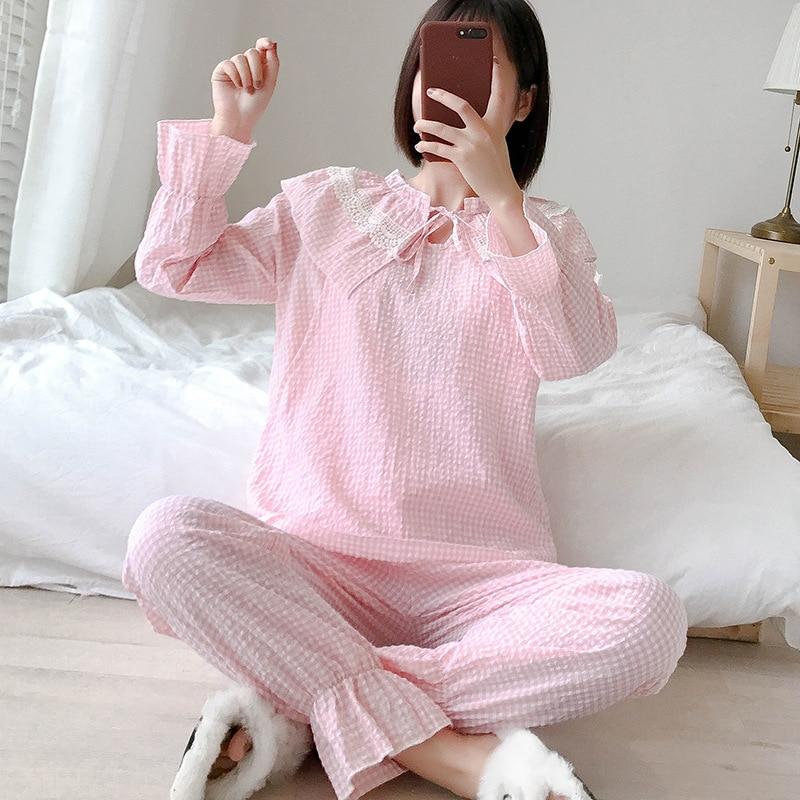 Весенняя одежда медсестры ночная рубашка для беременных Пижама для беременных Грудное вскармливание одежда для сна лактация костюм Одежда для беременных