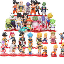 6/8 stuks Dragon Ball Z WCF broly figure Super Saiyan Son Goku Gohan Vegeta Vegetto Shenron Freeza Janemba broli Q PVC Figuren Speelgoed(China)