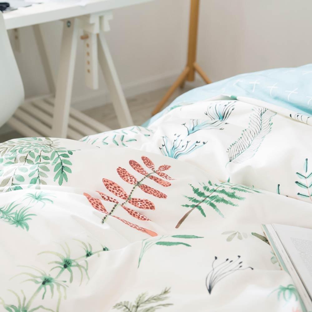 Image 3 - Svetanya Leaves Print Sheet Pillowcase and Duvet Cover Cotton  Bedlinen Twin Double Queen King Size Bedding Setking size bedding  setduvet cover setbedding set