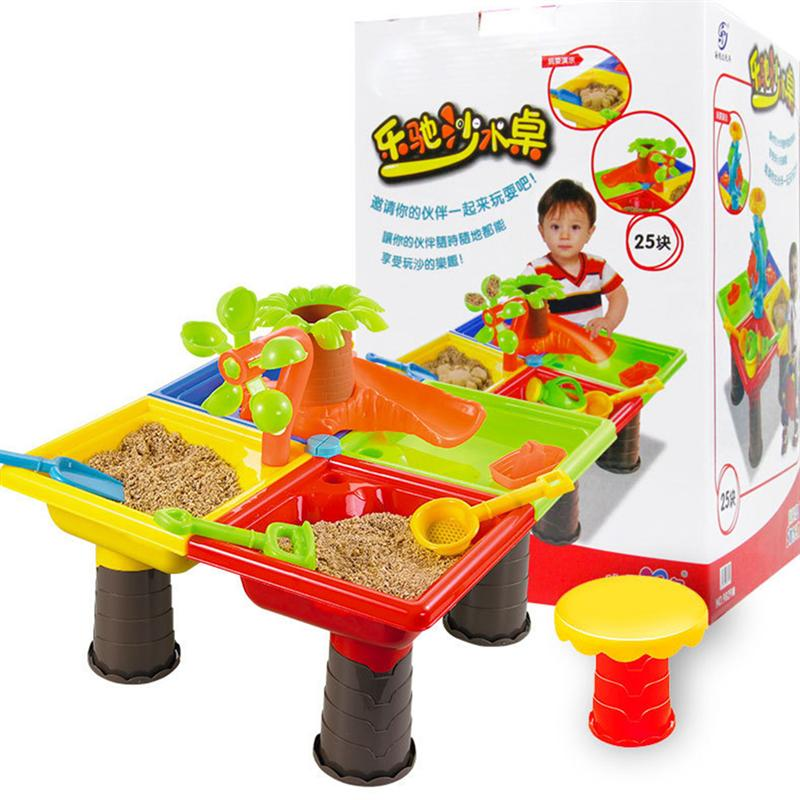 1 Set Beach Table Toys Set Funny Sand-excavating Tools Funny Playing Toy Educational Plaything Beach Gadget (Assorted Color)