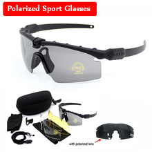 Military Glasses Tactical Polarized Sunglasses Airsoft Paintball Hunting Men Sport Protective Eye 3 Lens