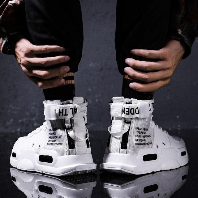 Zapatillas deportivas de tendencia de fondo rojo para hombre, zapatos informales de Hip Hop, tenis, para adultos, otoño 2021 3