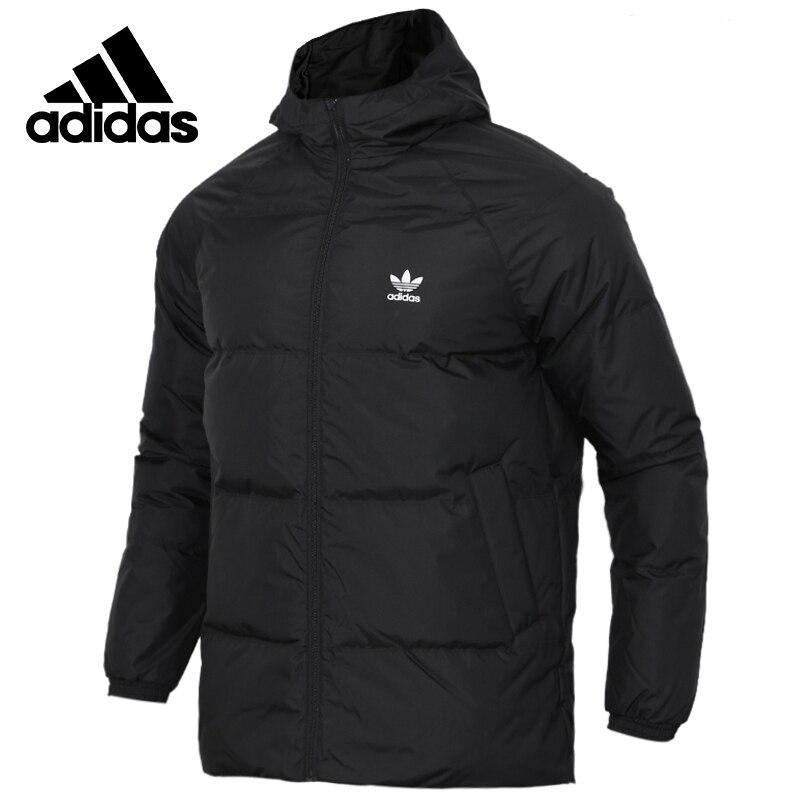 Original Adidas SST DOWN HOOD Mens Black Down coat Hiking Outdoors Down Sportswear