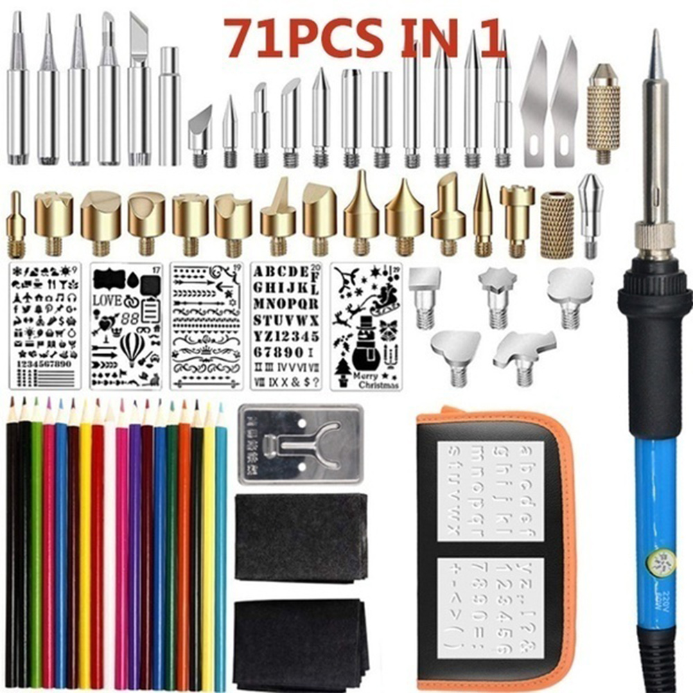 Electric Engraving Pen 71pcs/37pcs/28pcs/7pcs Professional Temperature Adjustable Wood Burner DIY Electric Engraver Grinder Sets