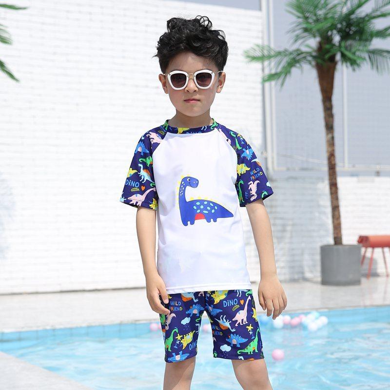 KID'S Swimwear BOY'S Swimming Trunks Set Split Type Baby Big Boy Swimwear Students Hot Springs Baby Swimsuit Boy