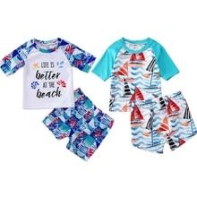 New 2pcs Toddler Baby Boy Girl Swimsuit Swimwear Bikini Shorts Bathing Suit