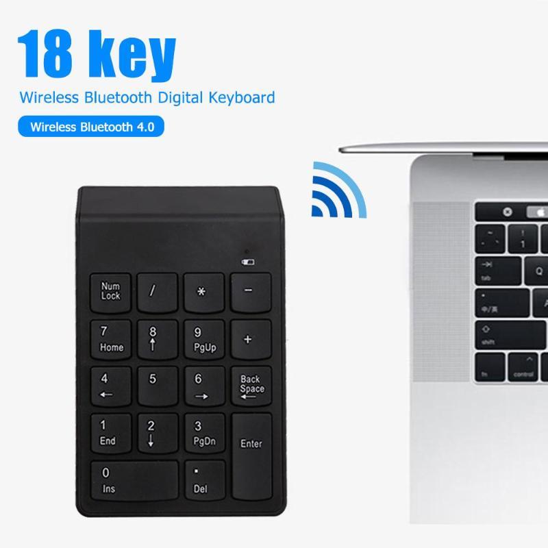 Mini Bluetooth Numeric Keypad Wireless Number Pad 18 Keys Keyboard For PC Supporting Power-Saving Automatic Sleep Mode