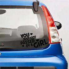 HobbyLane YOU JUST GOT PASSED BY A GIRL Funny Letters Car Decoration Decals Stickers