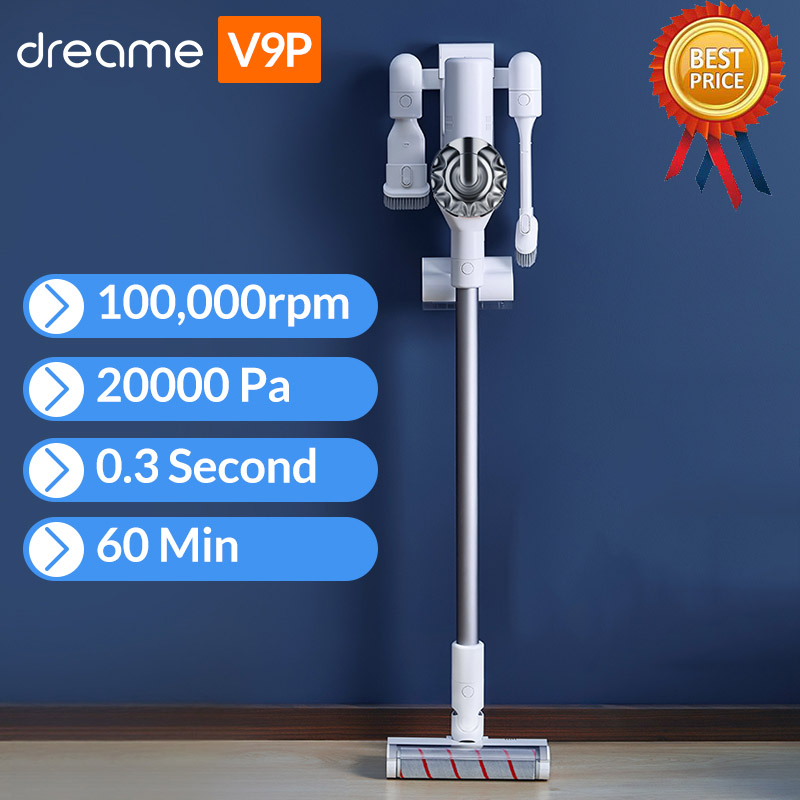 Dreame V9P V9 Handheld Cordless Vacuum Cleaner Protable Wireless Cyclone 120AW Strong Suction Carpet Dust Collector Aspirador