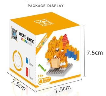 POKEMON Small Building Block Compatible Block Raichu Charizard Weedle Necrozma Pikachu Building Block Construction Toys Blocks 2