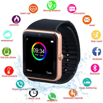 Smart watch GT08 supports NFC, SIM card anti-lost smart Bluetooth watch pedometer music player touch screen sports fitness watch bluetooth 4 ble multifunction pedometer keyfob development board to support the anti lost ibeacon