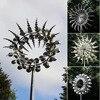 Unique Magical Metal Windmill Outdoor Wind Spinners Wind Collectors Courtyard Patio Lawn Garden Decoration Outdoor Indoor
