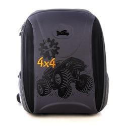 Delune Brand 3D Orthopedic School Bags for Girls Grade 1-5 Children Boys Four-wheel Drive Cars Print Backpacks Mochila Infantil