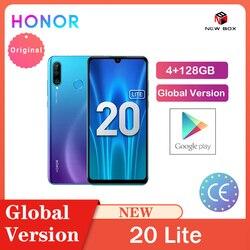 Honor 20 Lite 4 Гб 128 ГБ глобальная версия фронтальная 32 МП Kirin 710 Восьмиядерный Android 9,0 Face ID мобильный телефон 24MP камера заднего вида