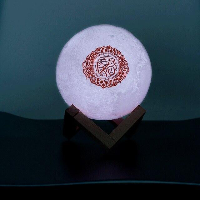 Quran Bluetooth Speakers Colorful Remote Control Small Moonlight LED Night Light Moon Lamp Moonlight Wireless Quran Speaker 4