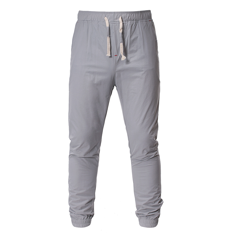 Men Pants 2019 Men's Fashion New Fall Men's Style Men's Pants with Plain Color Tie Front and Leg Breeching Baggy Men's Pants