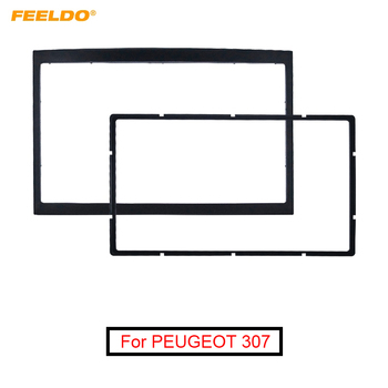 FEELDO Car Refitting Stereo DVD Frame Fascia Dash Panel Installation Kits For Peugeot 307(01~08) 2DIN Radio DVD Stereo Mounting image