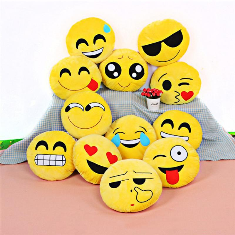 Smile Face Pillow Soft Cozy Stuffed Cushion Cartoon Throw Pillow Plush Toy For Living Room Bedroom Home Decor Toys New2020
