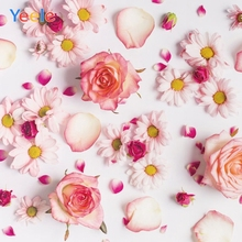 Yeele Flower Backdrop Baby Shower Children Girl Birthday Party Photography Background For Photo Studio Photocall Photophone