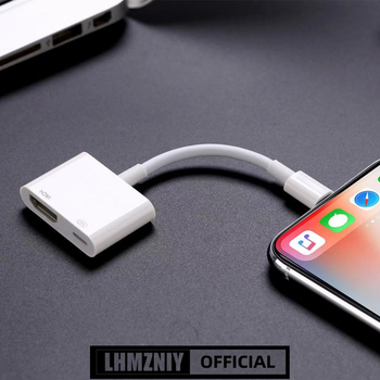 цена на KUU 1080P HDMI Cable For Lighting Male To HDMI  Digital Converter Female Cable HD AV Adapter Cable Support for IPad IPhone IOS
