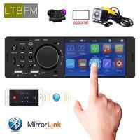 4.1 touch screen autoradio bluetooth mirrorlink radio 1 din audio car stereo auto mp5 multimedia player 12V USB Remote Contro