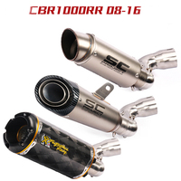 Motorcycle Exhaust Muffler Escape Slip On For Honda CBR1000 RR CBR1000RR modified exhaust pipe 2008 2016