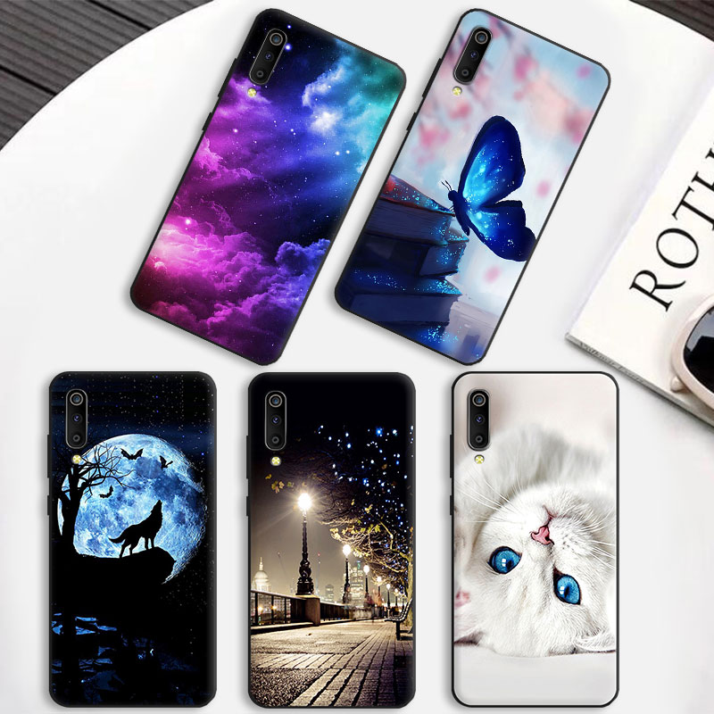 Customized Pattern Phone Cases for <font><b>Galaxy</b></font> <font><b>A50</b></font> <font><b>A505</b></font> Soft Silicone TPU Shell For <font><b>Samsung</b></font> A70 A80 A90 Matte Back Cover Protection image