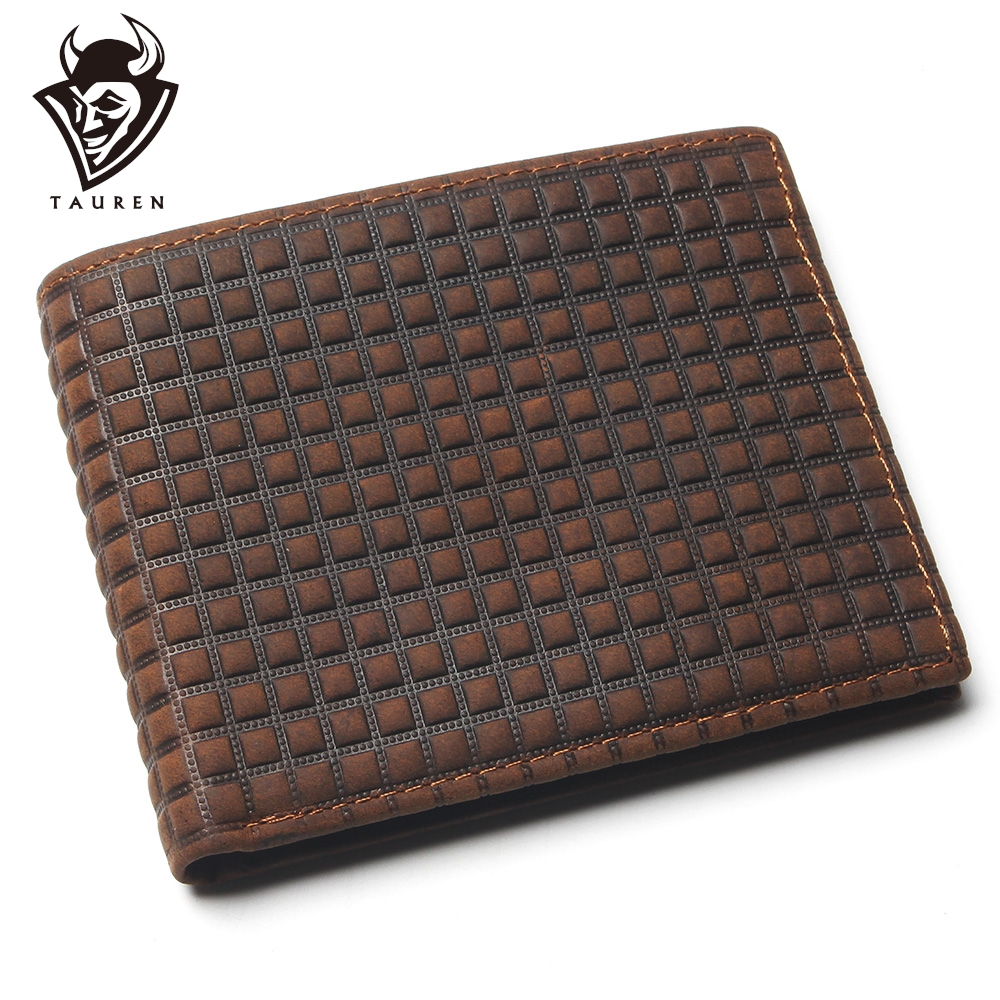 Crazy Horse Leather Man Leather Wallet With Card Page Embossed Pattern Design Imported Leather Mens Genuine Leather Coin Purse